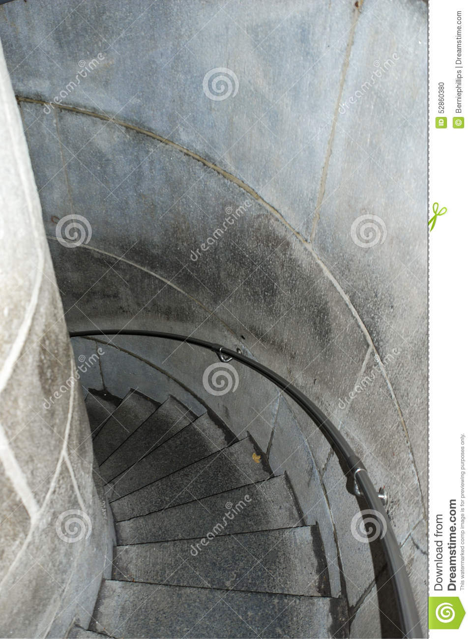 Stone Spiral Staircase Stock Photo Image 52860380
