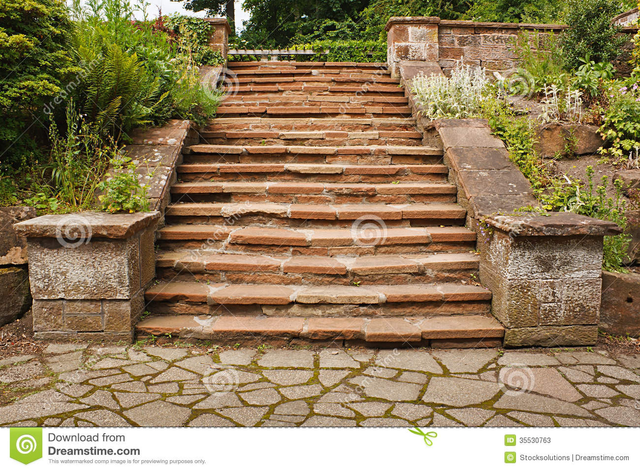 Stone Stairs Stock Image Image Of Stairs Landscaped