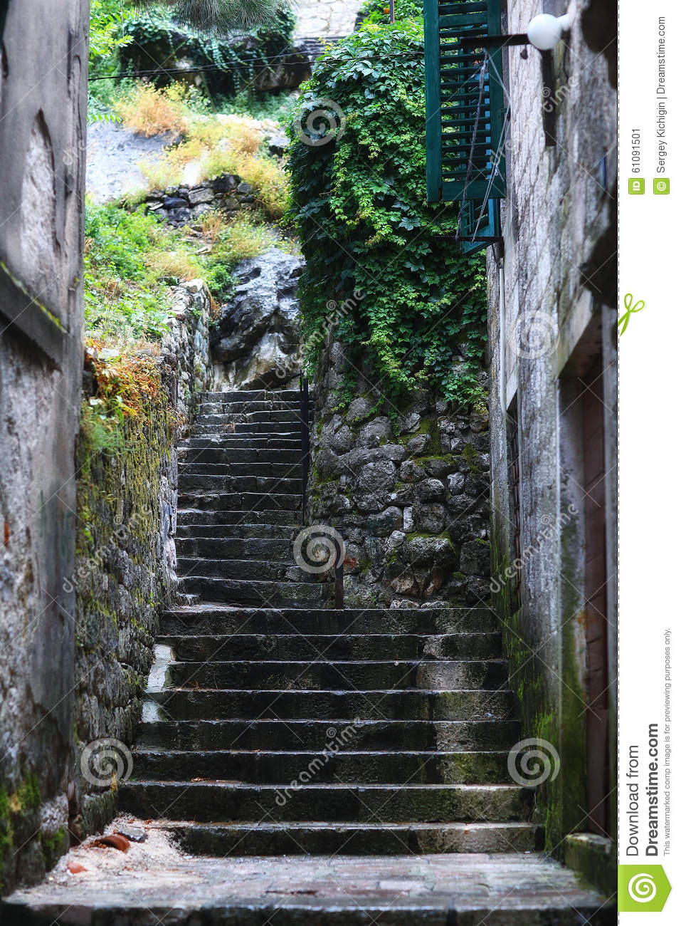Old stairs in Europe 52