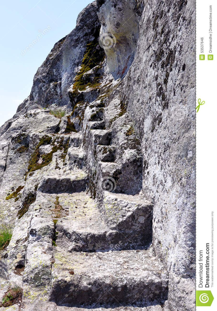 Carved Stone Steps : Stone steps stock photo image of beauty rock path