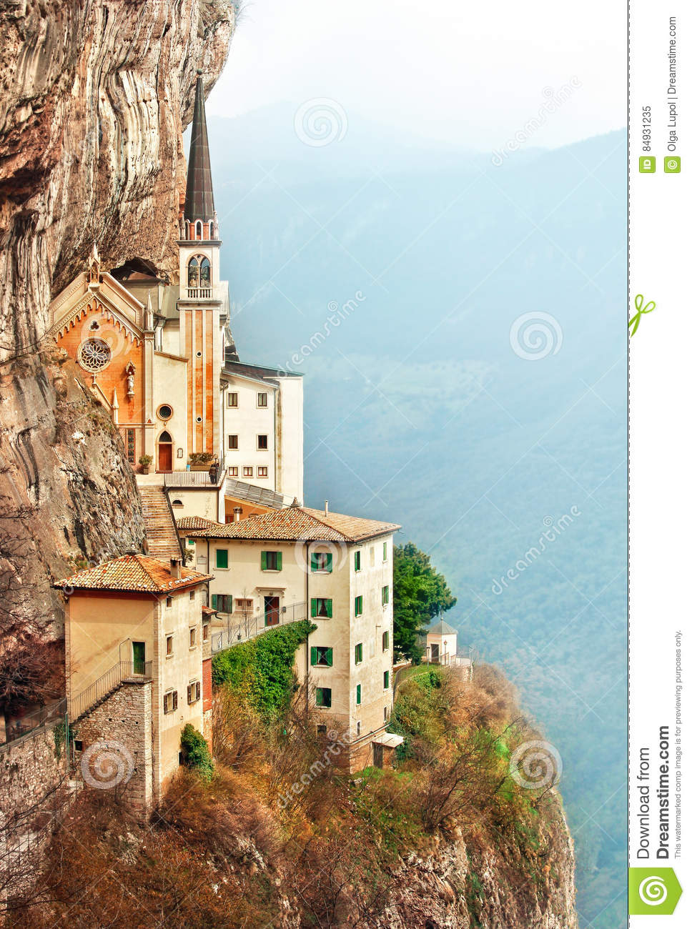 Download Stone Steps Of Stairs Madonna Della Corona Stock Image - Image of locality, european: 84931235
