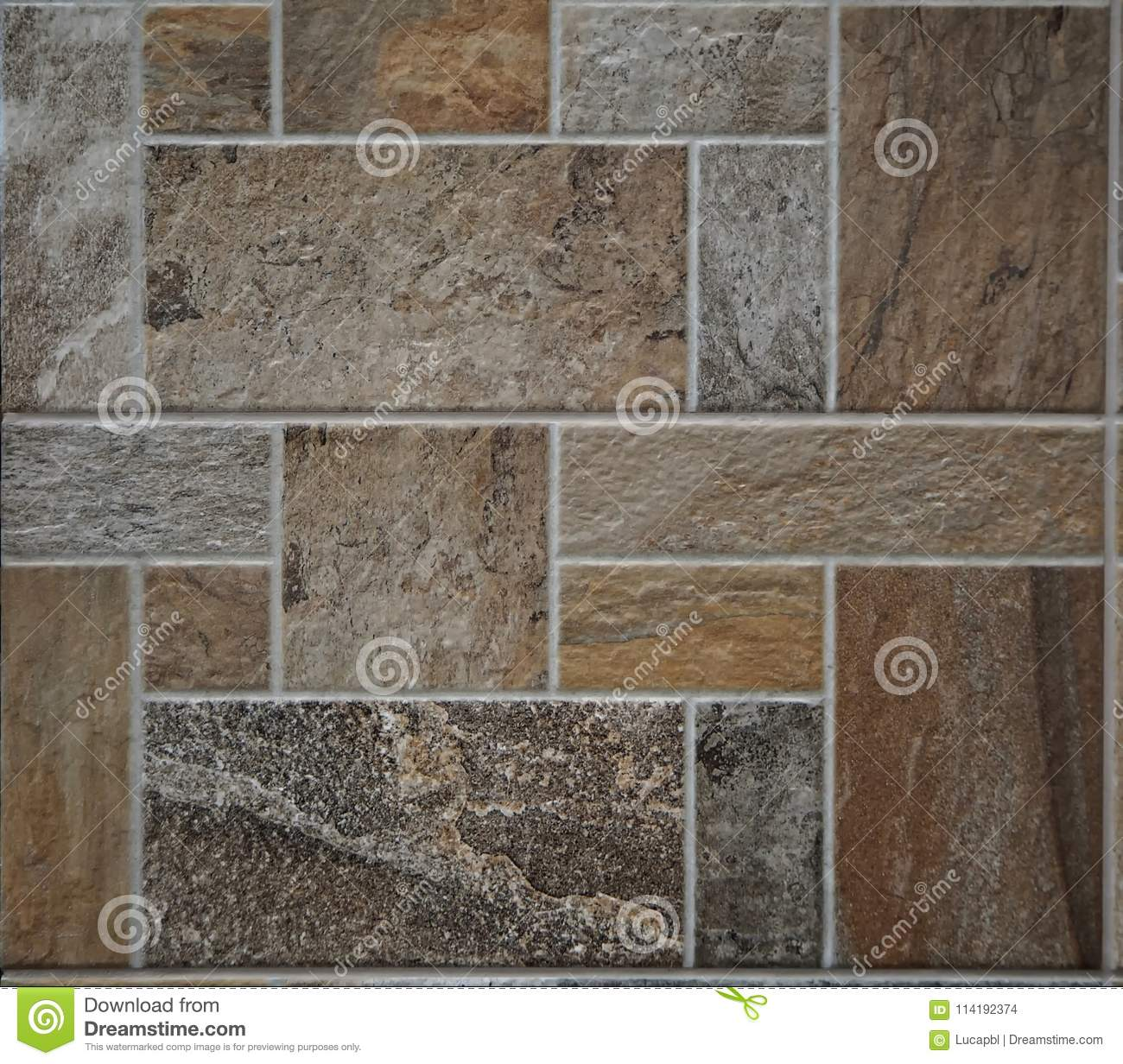 Stone Tile Rustic Floor The Tiles Are Made Of Polished Rocks Of