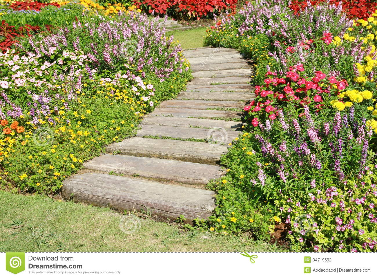 Stone walkway in garden royalty free stock photo image 34535795 - Royalty Free Stock Photo Flower Garden Walkway