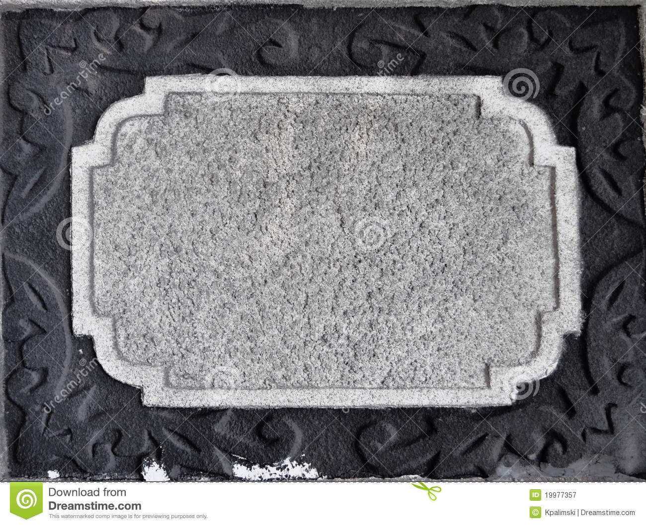 Stone Wall Antique Empty Frame Border Stock Image Image