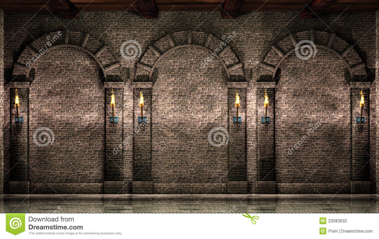 Stone Wall With Arches Stock Photography Image 23583632