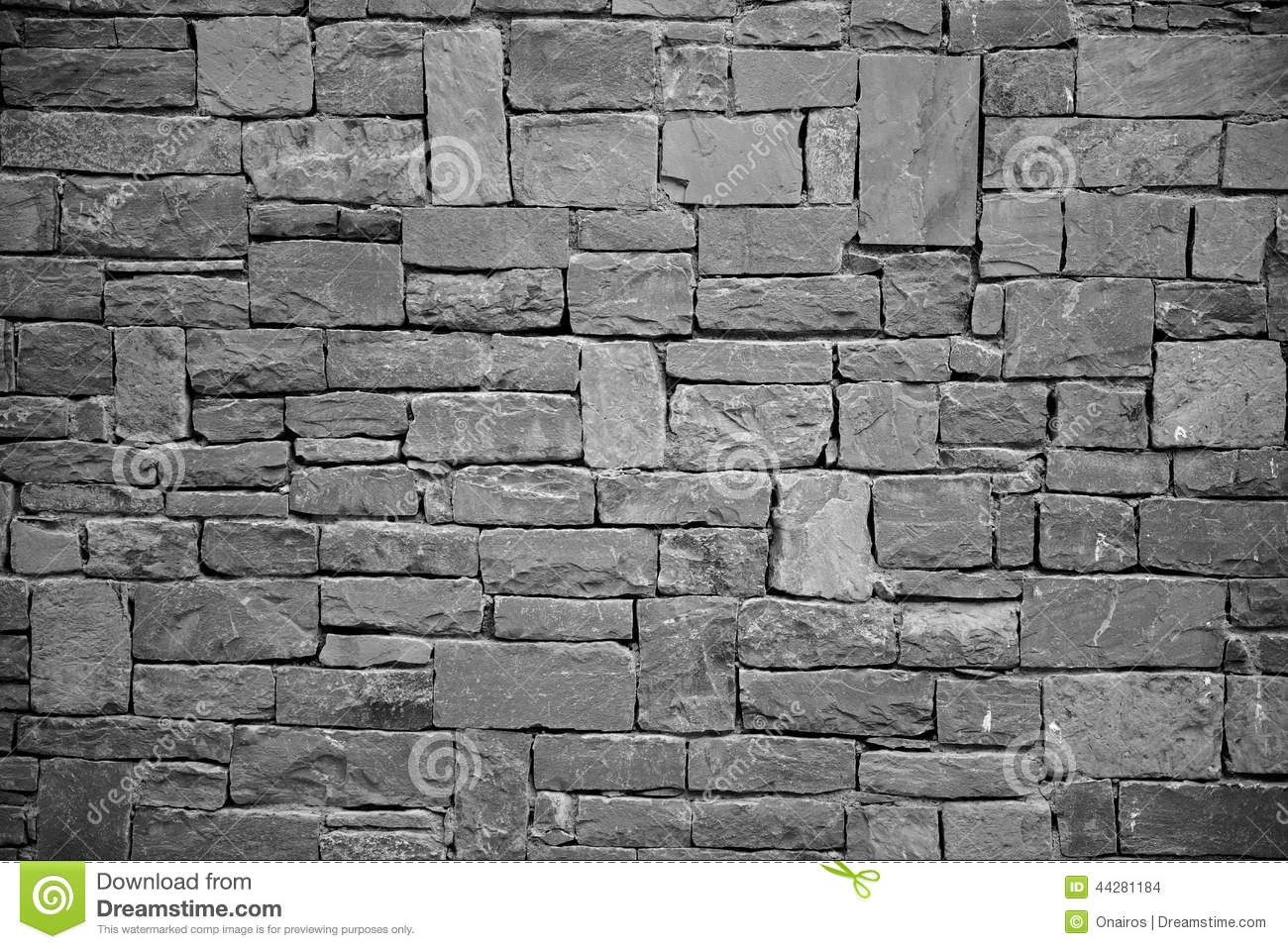 Stone wall background space for text