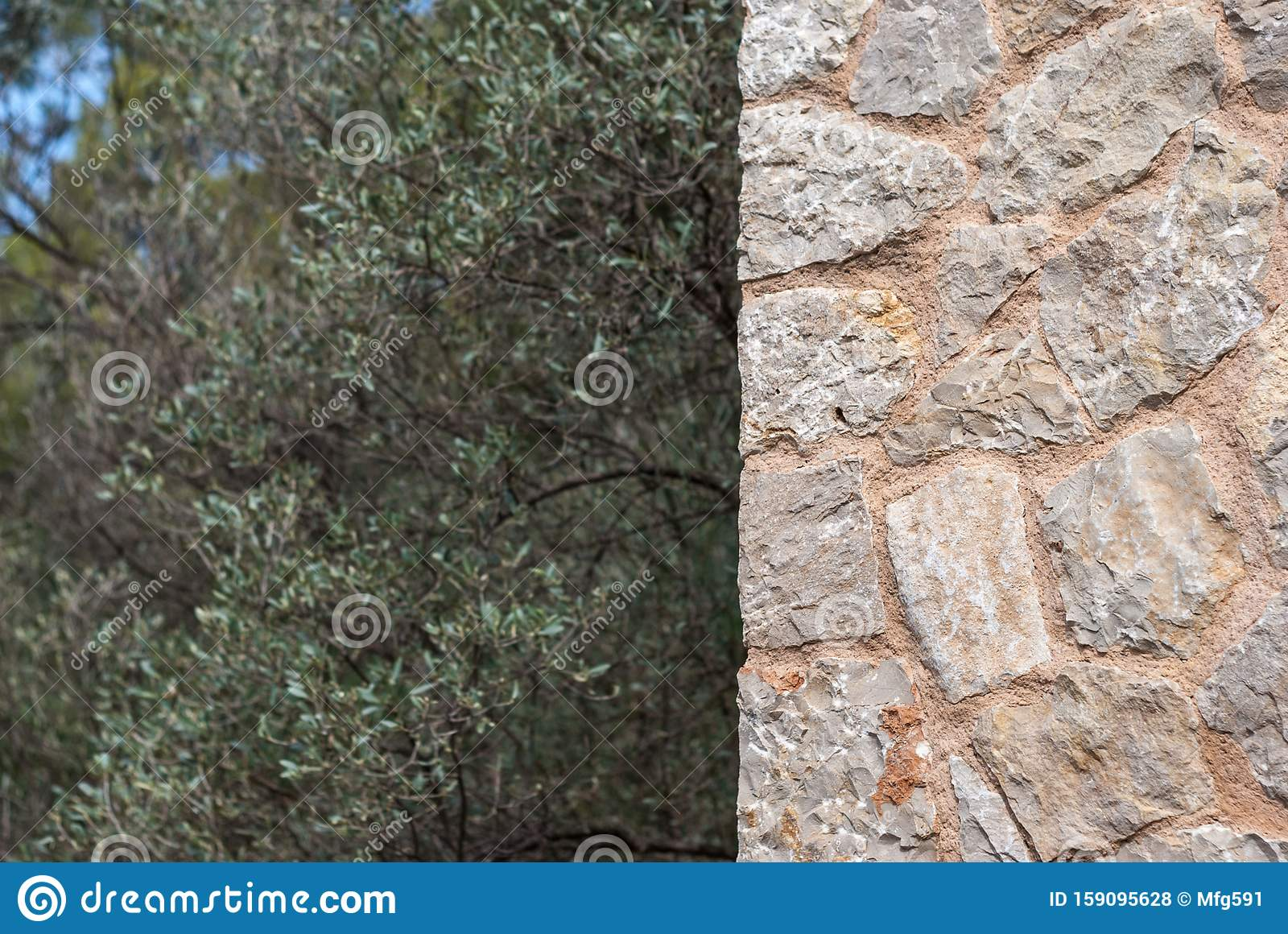 Stone Wall Background With Copy Paste Space Stock Photo Image Of
