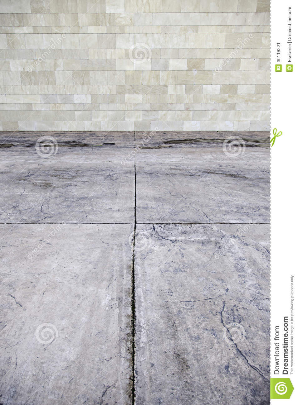 Stone Wall And Concrete Floor Stock Image - Image: 30119221