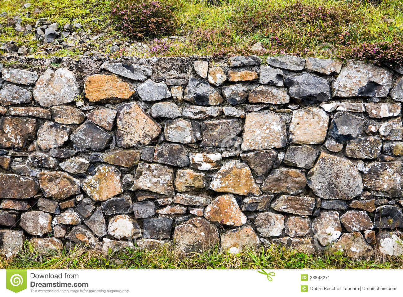 Stone Wall at Giants Causeway