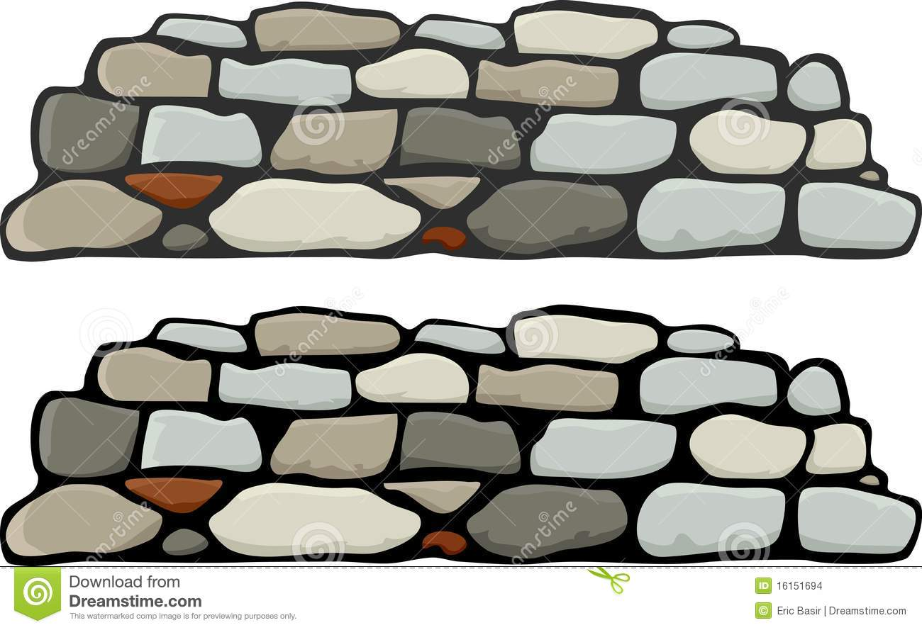 stone wall with black and grey mortar variations.
