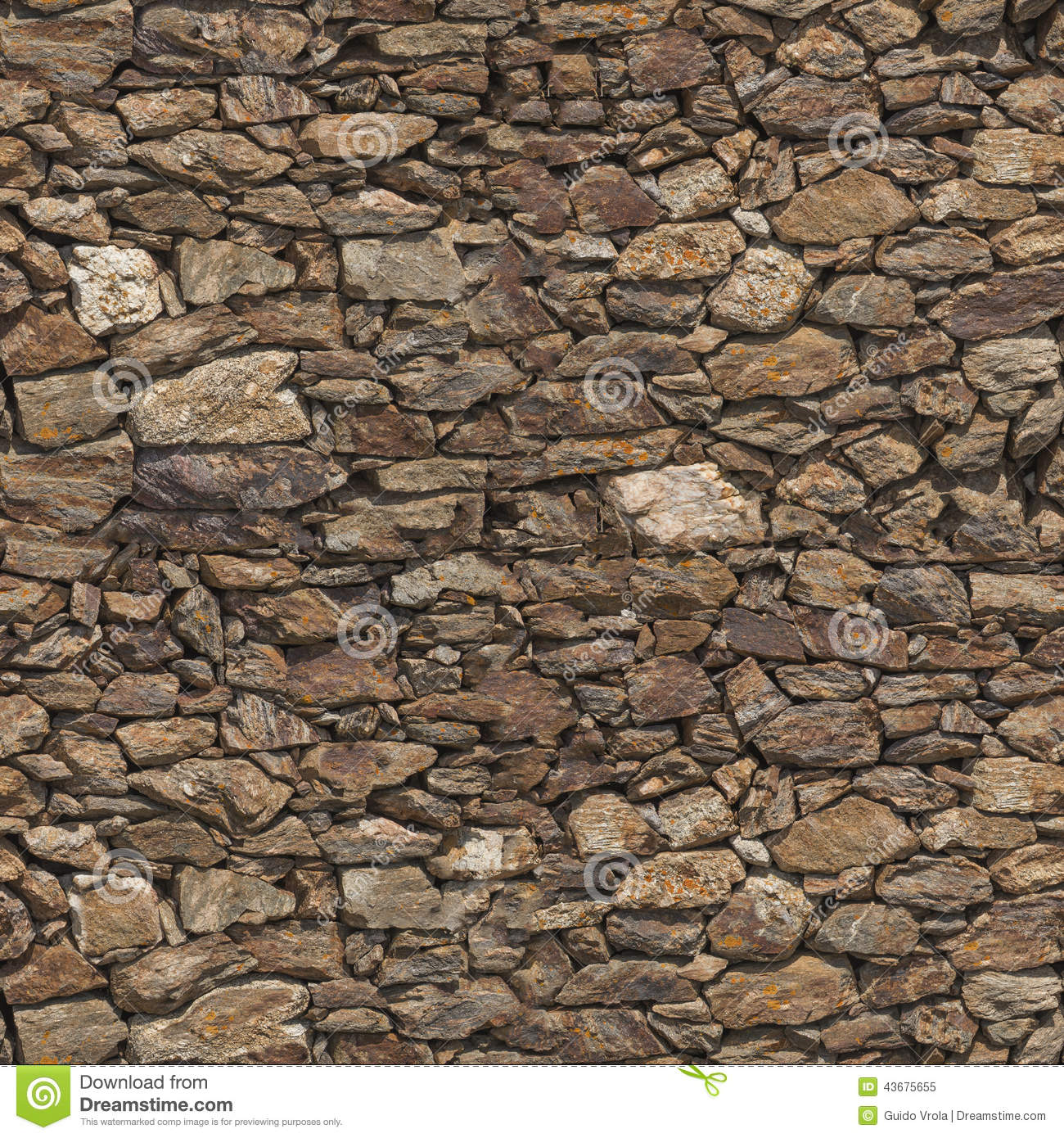 Stone Wall Seamless Texture Stock Photo - Image: 43675655