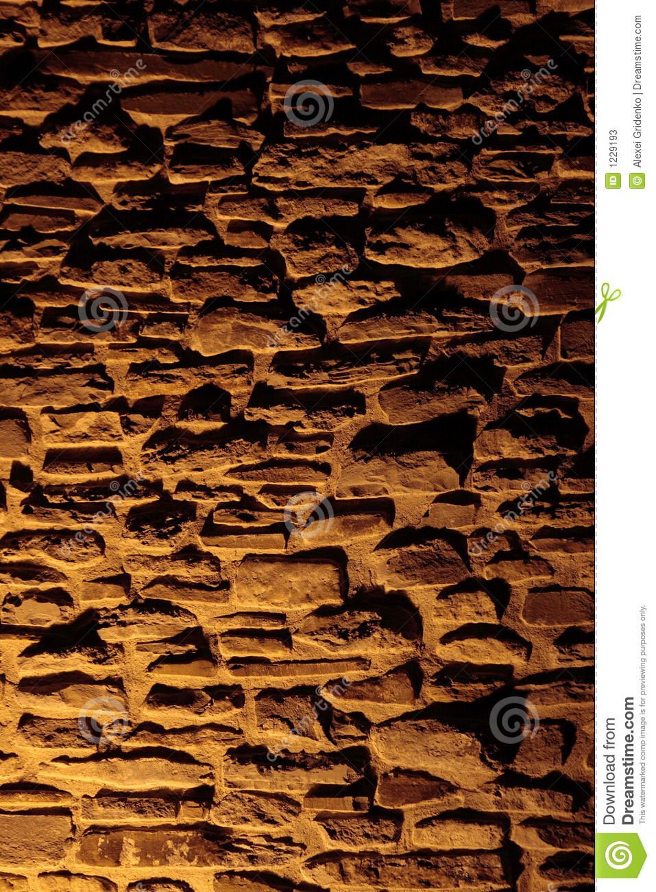 Stone Wall With Shadows Stock Image Image Of Night Build