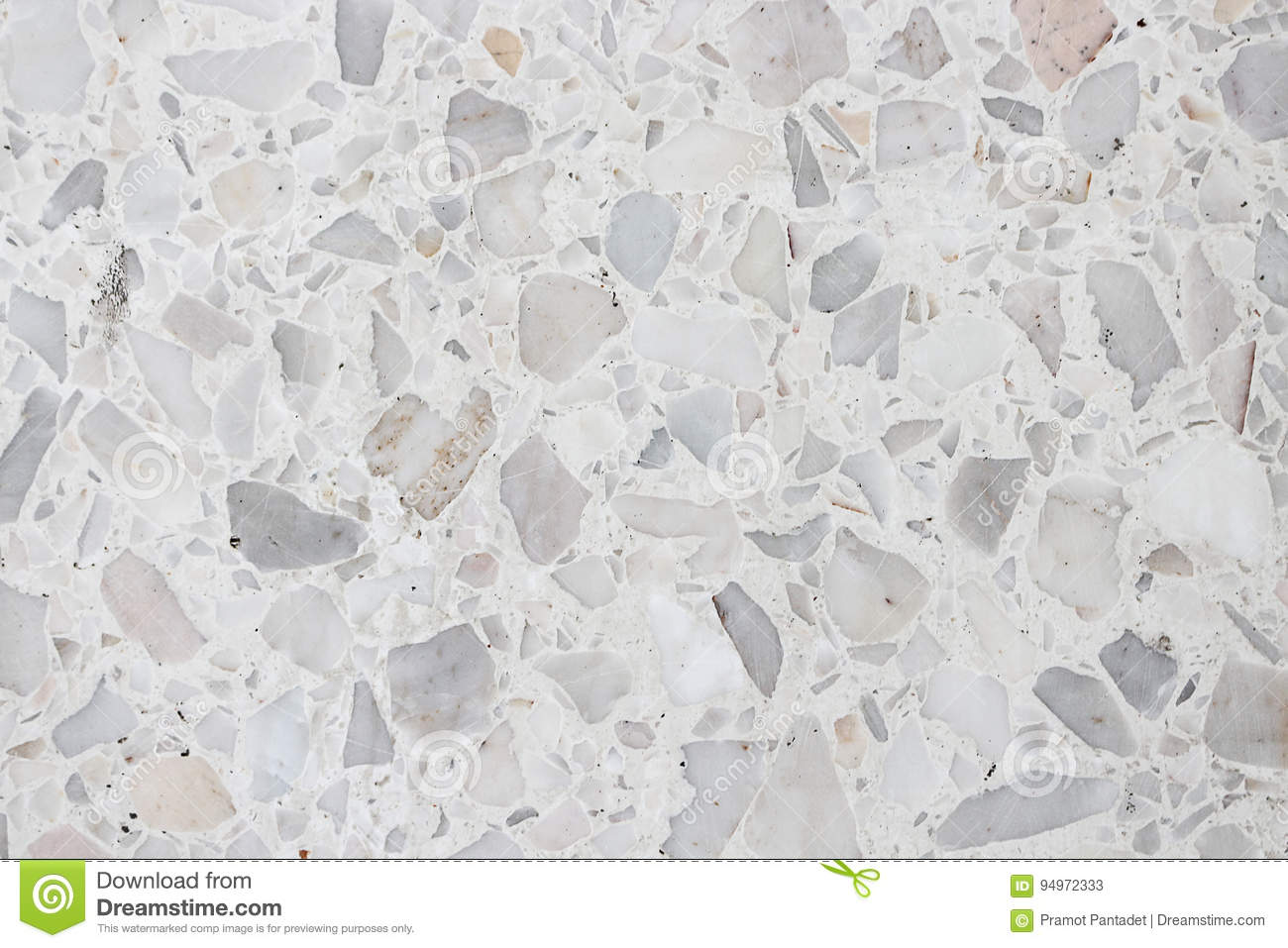 Stone Wall Texture Terrazzo Floor Small Stone White Cement
