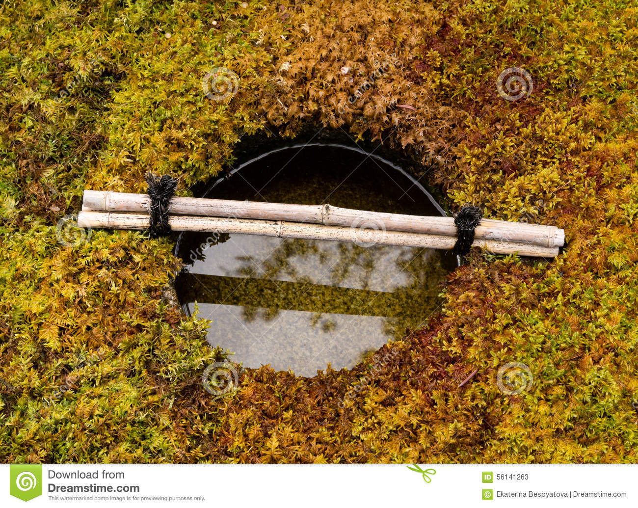 Japanese stone water basin royalty free stock photography for Water in japanese