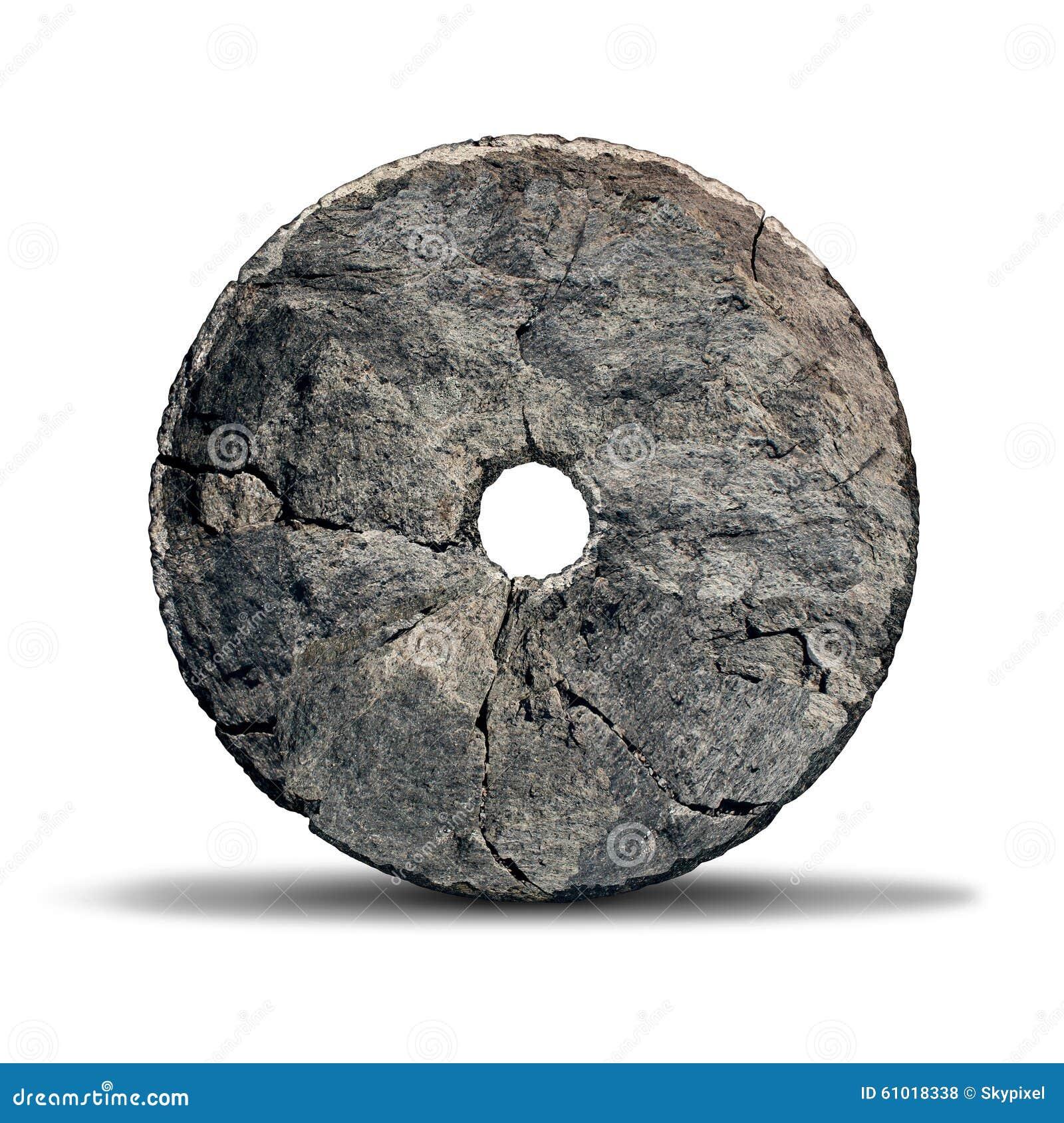 Caveman Wheel : Stone wheel stock illustration image
