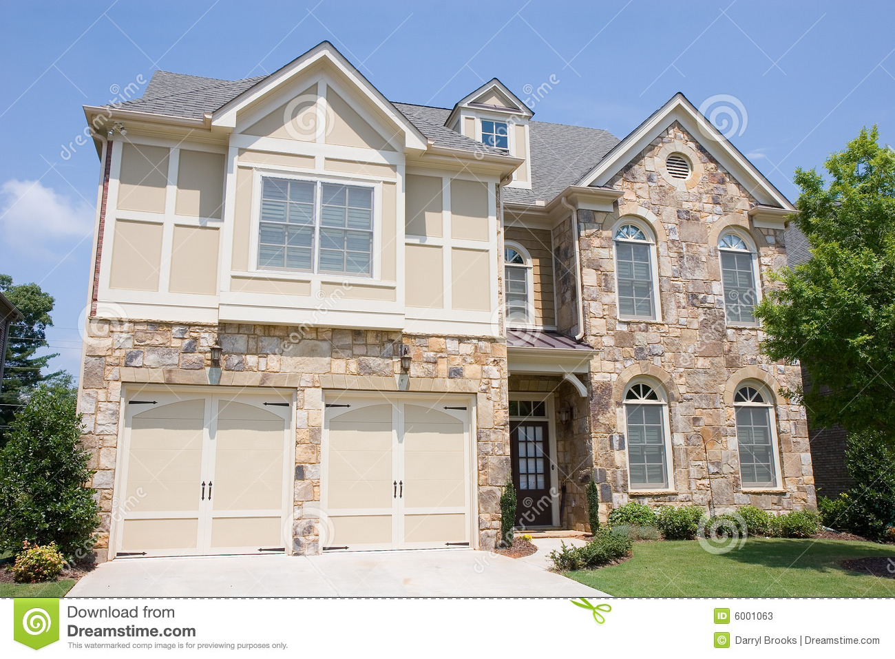 Stone And Wood Frame House Stock Photos Image 6001063
