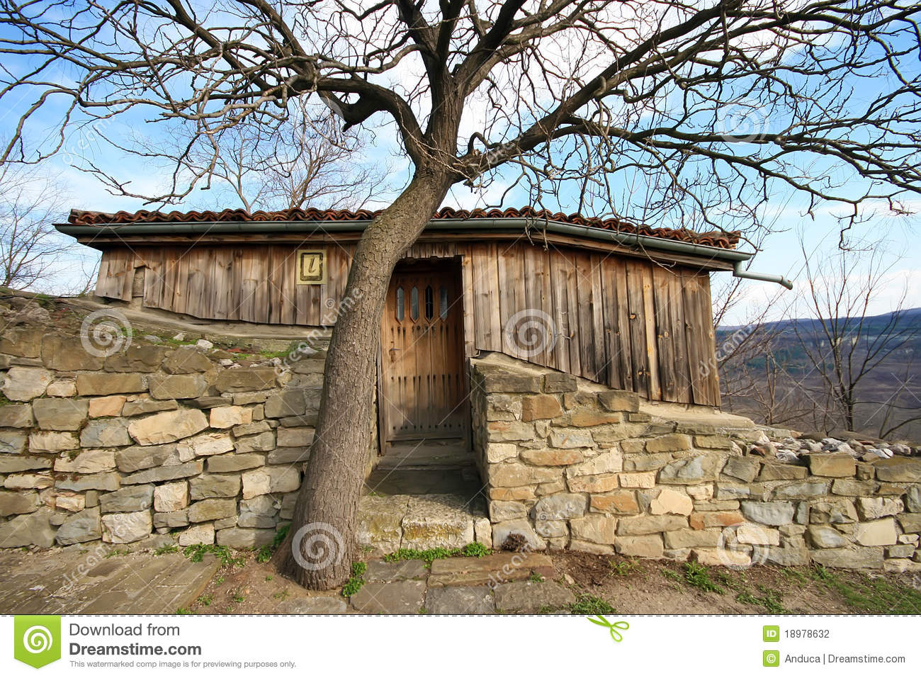 Stone And Wood House Stock Photography Image 18978632