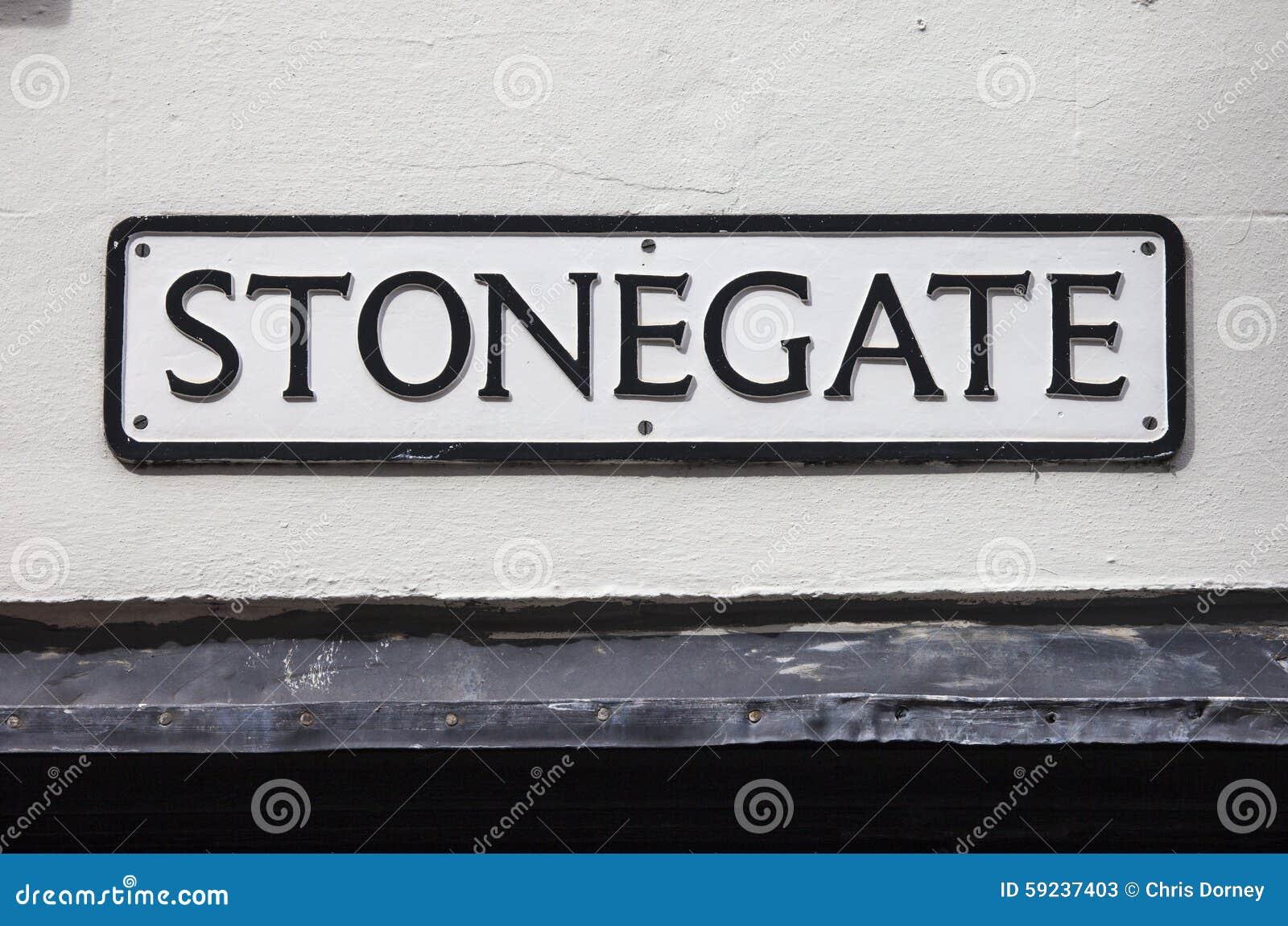 Download Stonegate en York imagen de archivo. Imagen de interés - 59237403