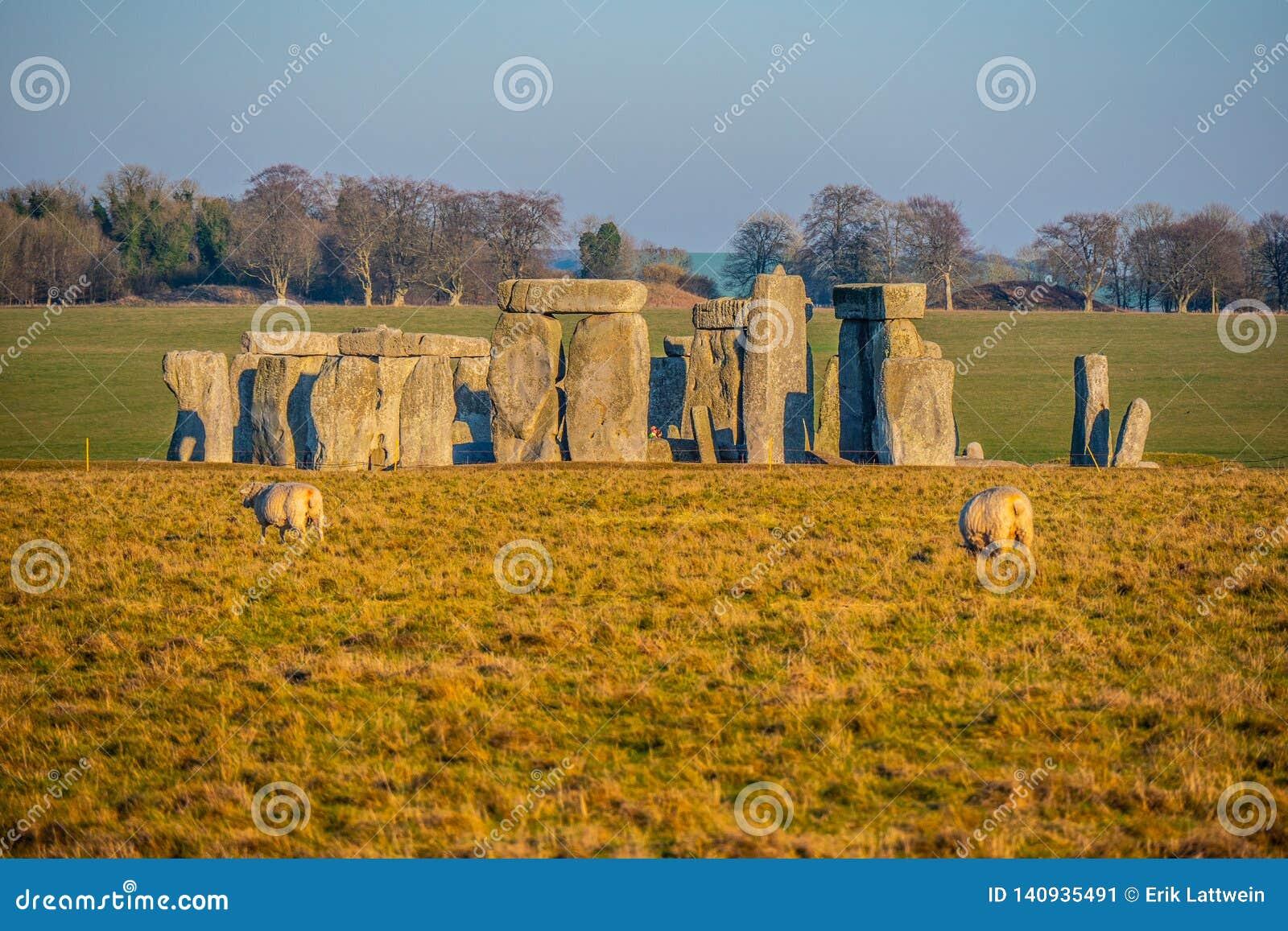 Stonehenge in England is a popular landmark