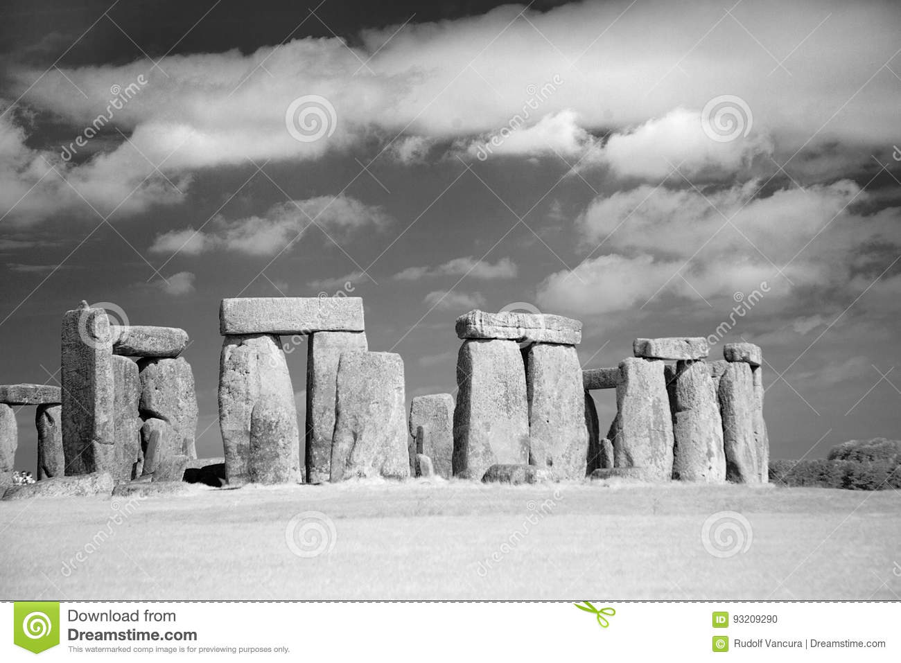 Stonehenge Megalithes in front of dramatic sky
