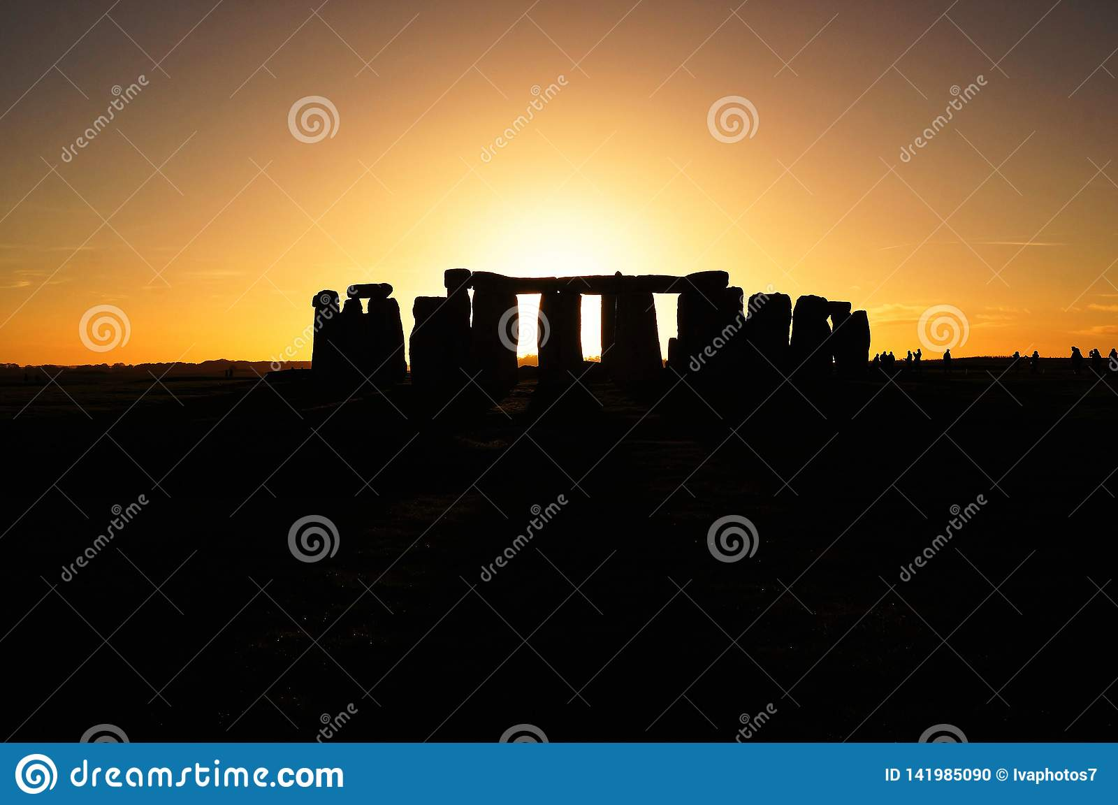 Stonehenge mysterious monument in sunset