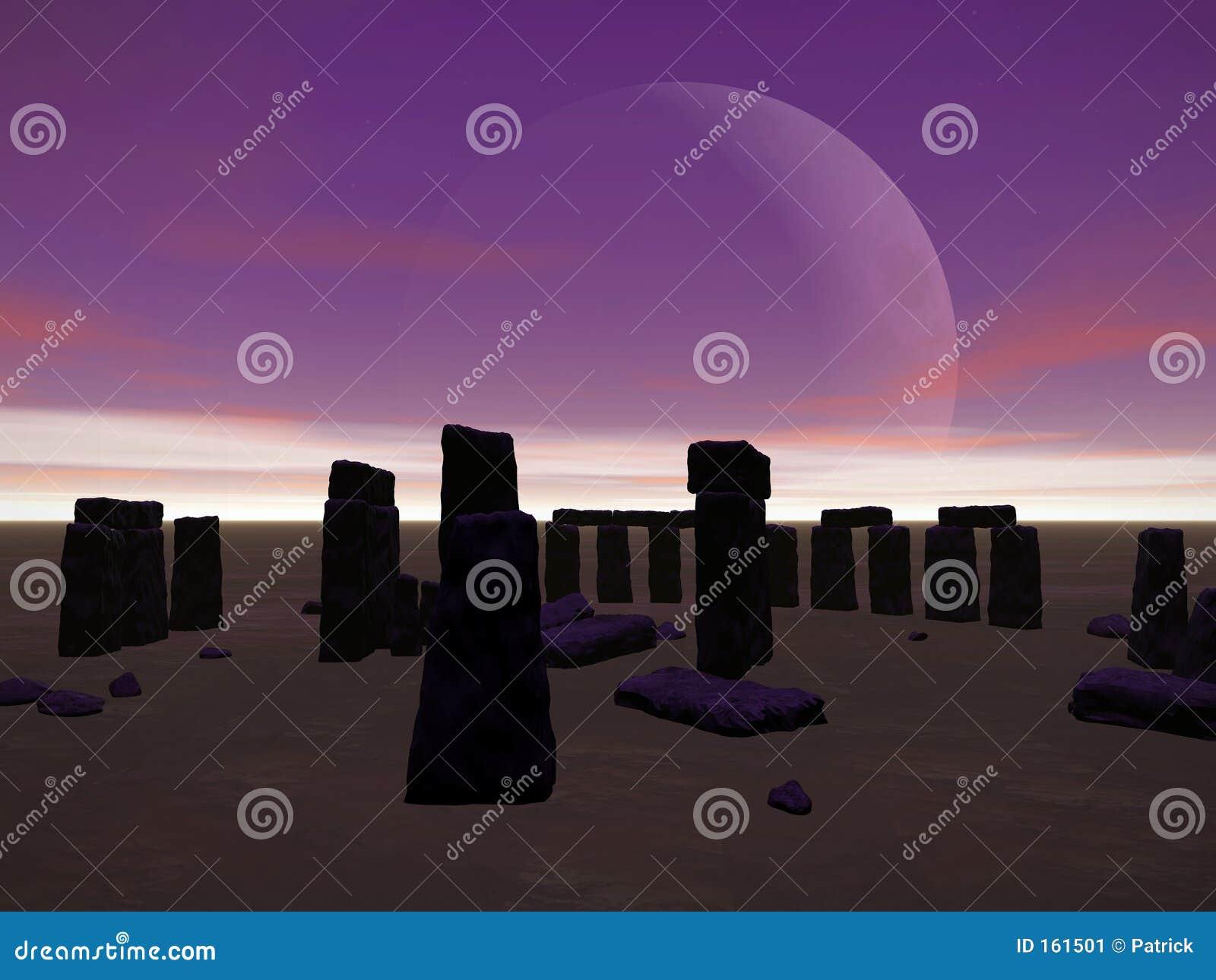 Stonehenge by night.