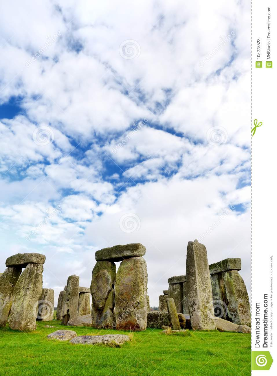 Stonehenge, one of the wonders of the world and the best-known prehistoric monument in Europe, located in Wiltshire, England