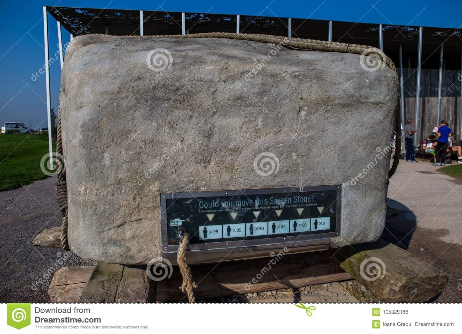 Stonehenge Sarsen stone