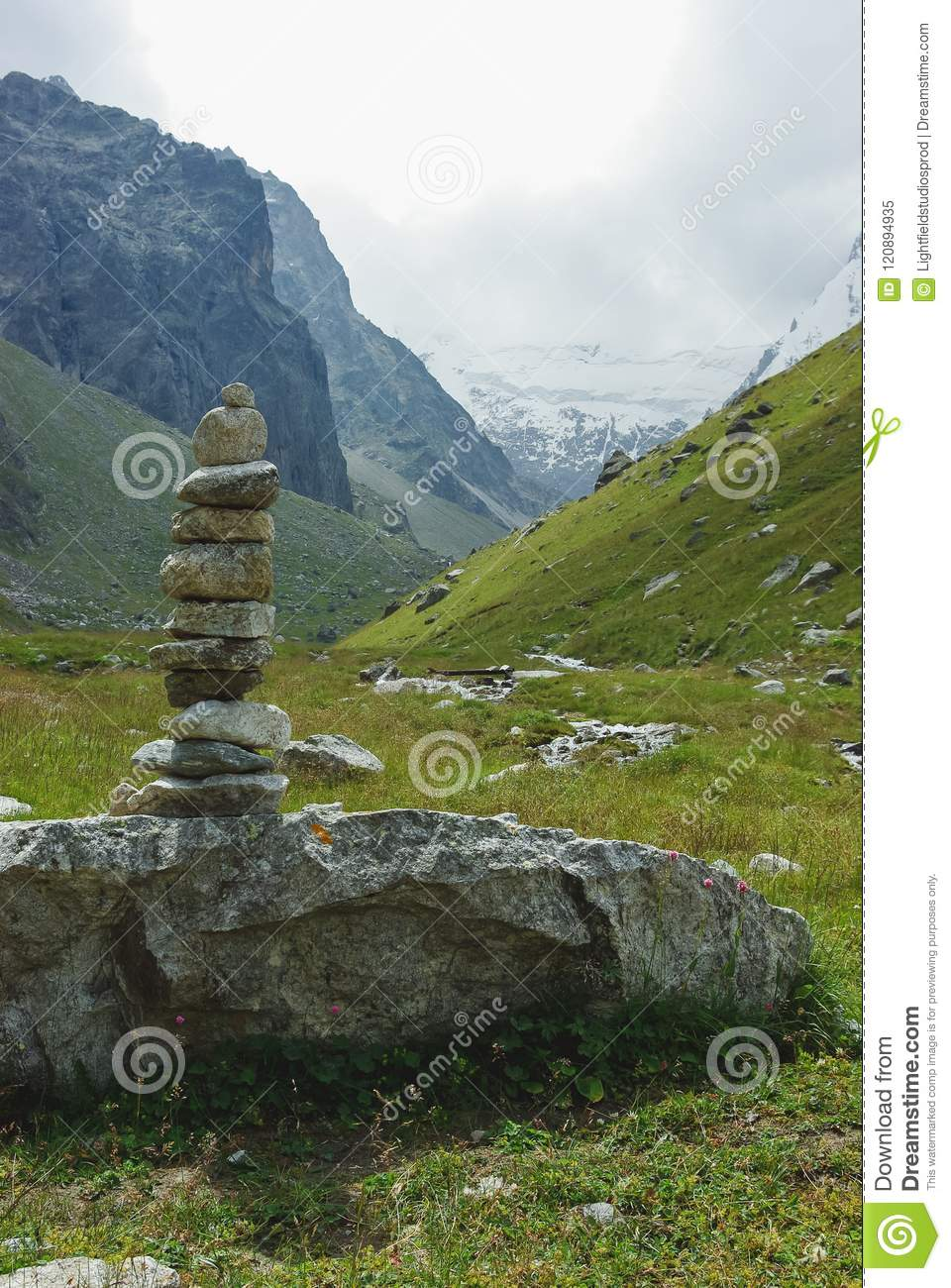 stones architecture in mountains Russian Federation, Caucasus,