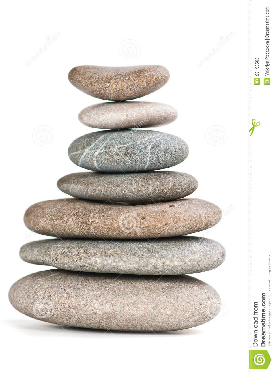 Stones In Balanced Pile Royalty Free Stock Images Image
