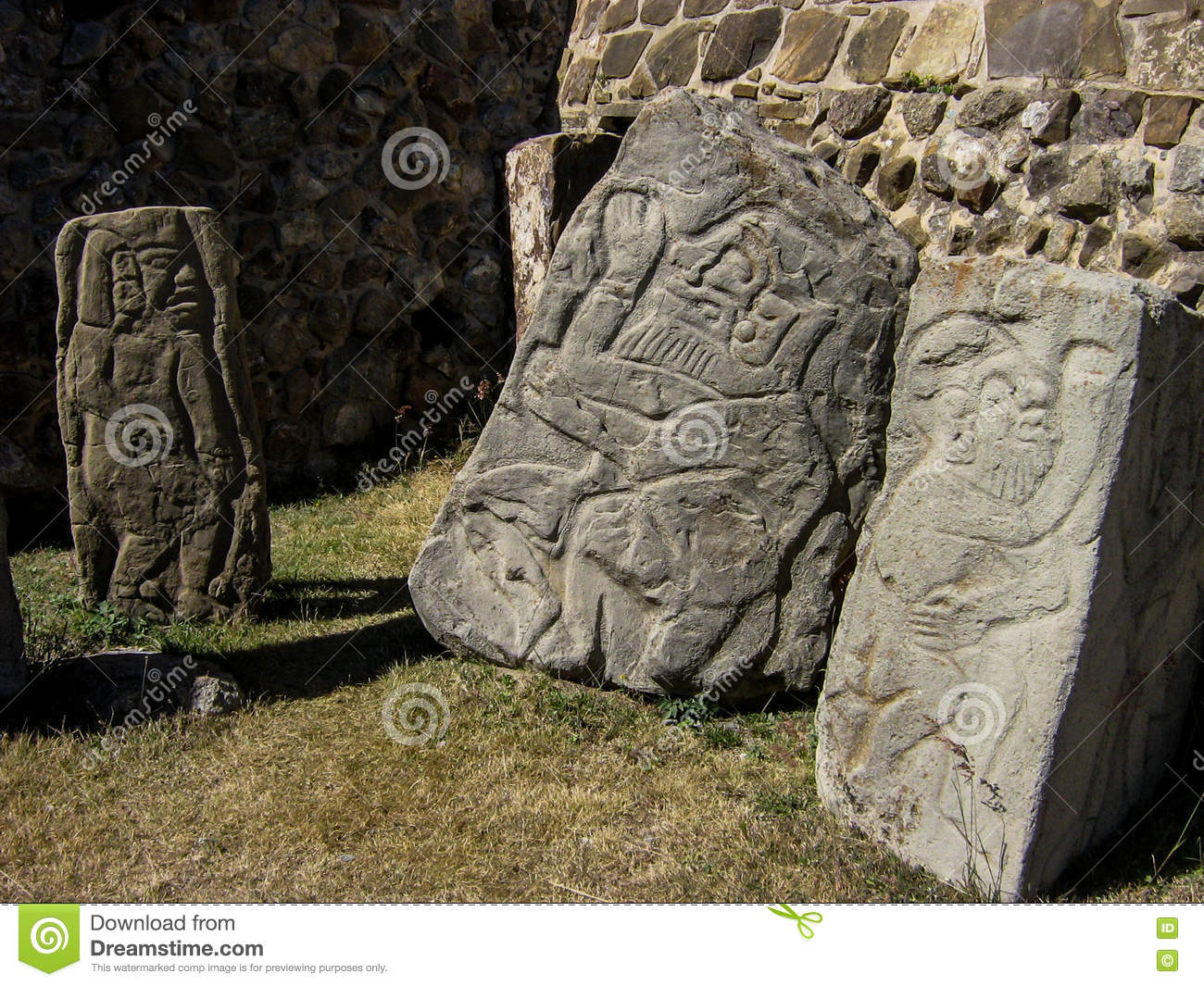 Stones carvings in monte alban mexico stock photo image of