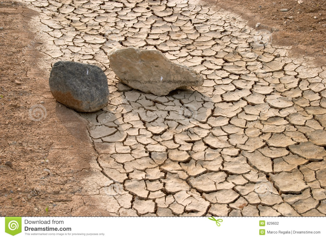 Stones in a dry river