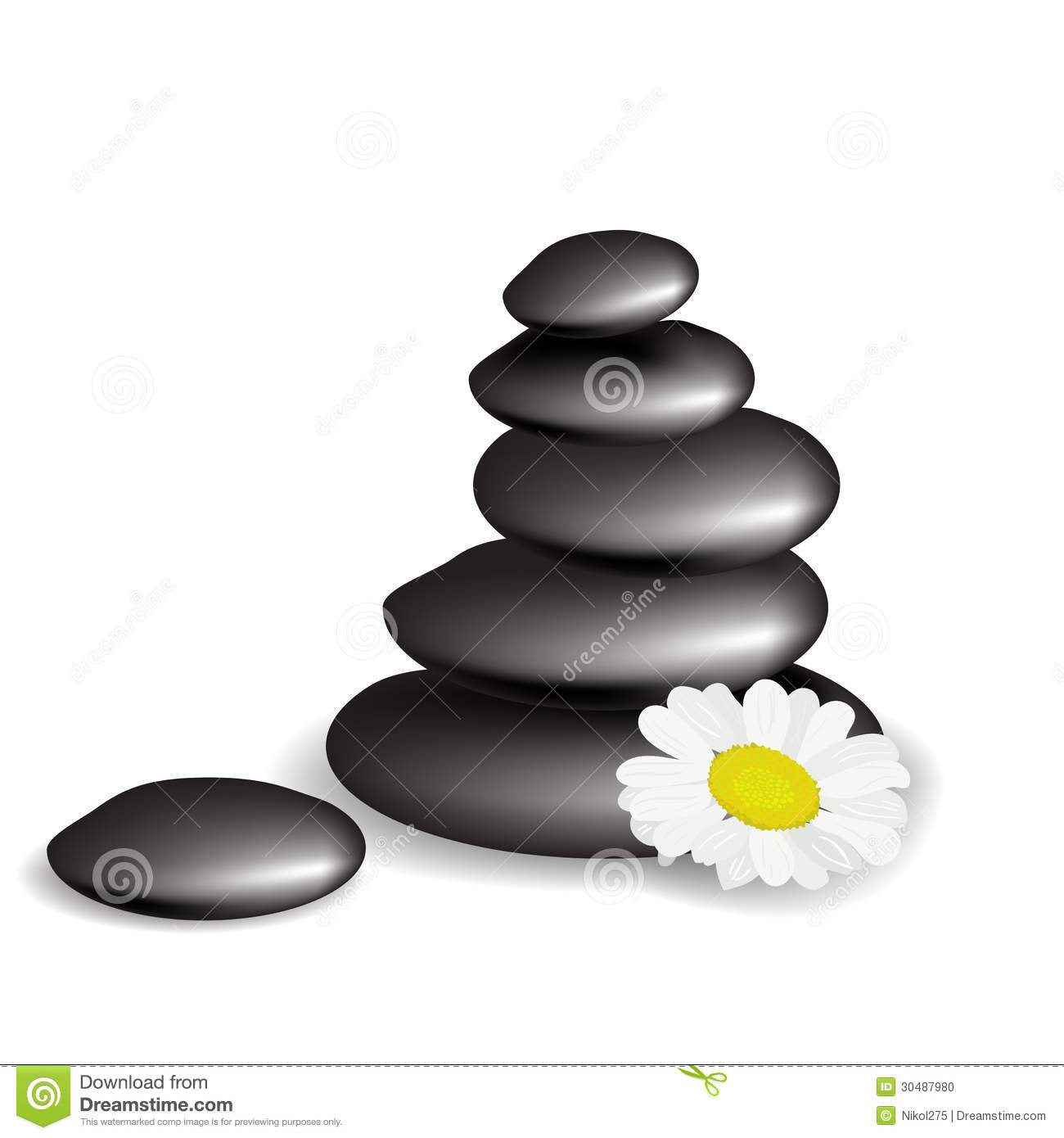 Stones with flower