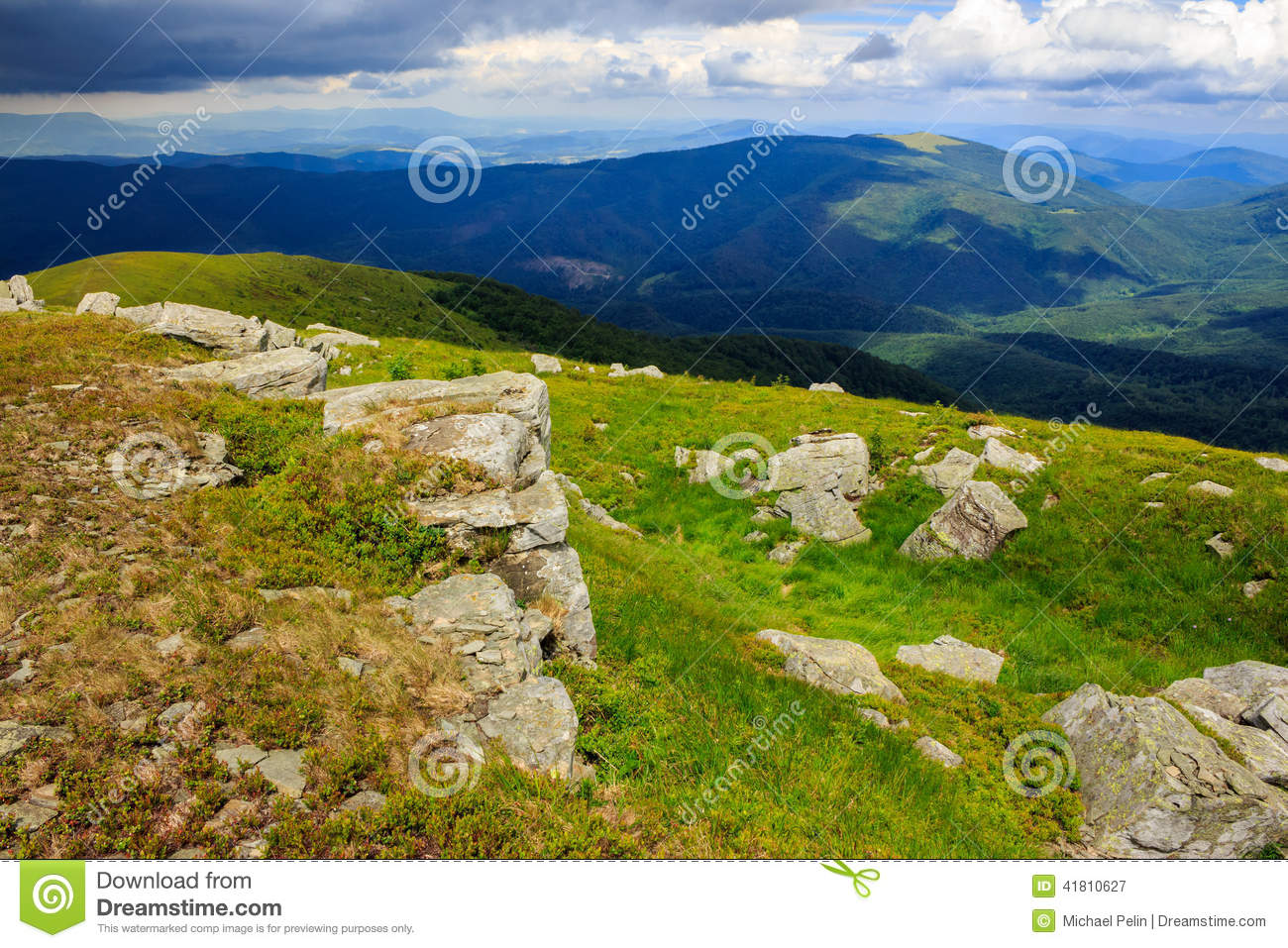 Download Stones on the hillside stock image. Image of tourism - 41810627
