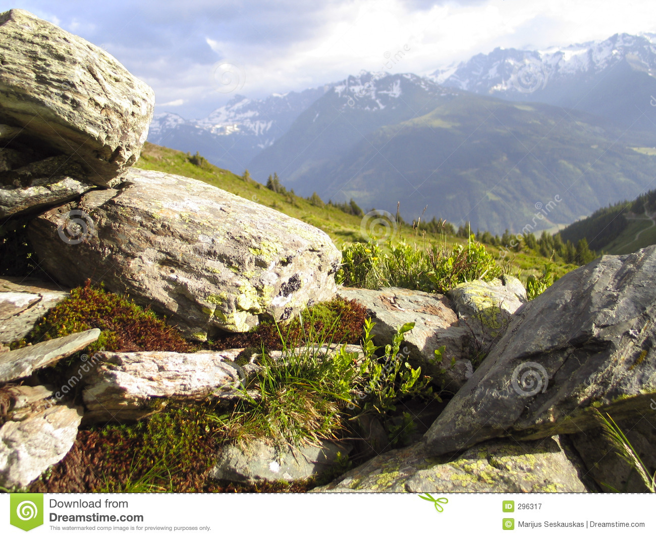 Stones and mountains