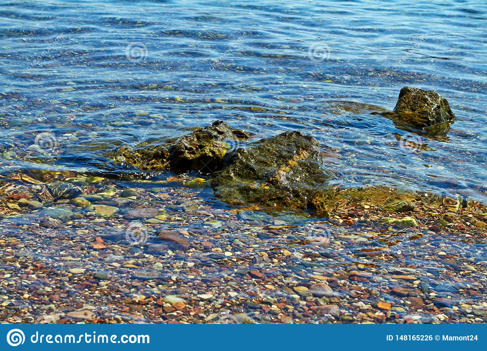 Stones on the shore of the Red Sea