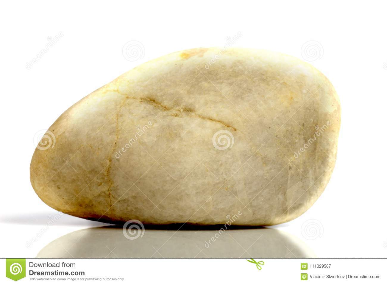 Set Rock Stone With Names, Isolated On A White Background