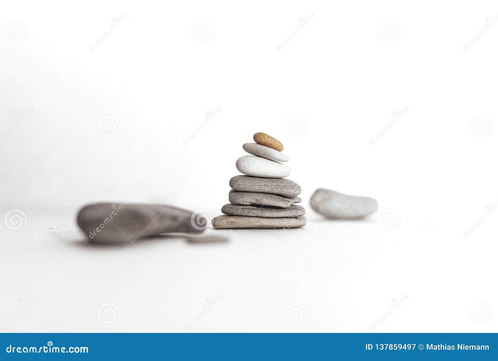 Stonetower com as pedras diferentes com fundo branco