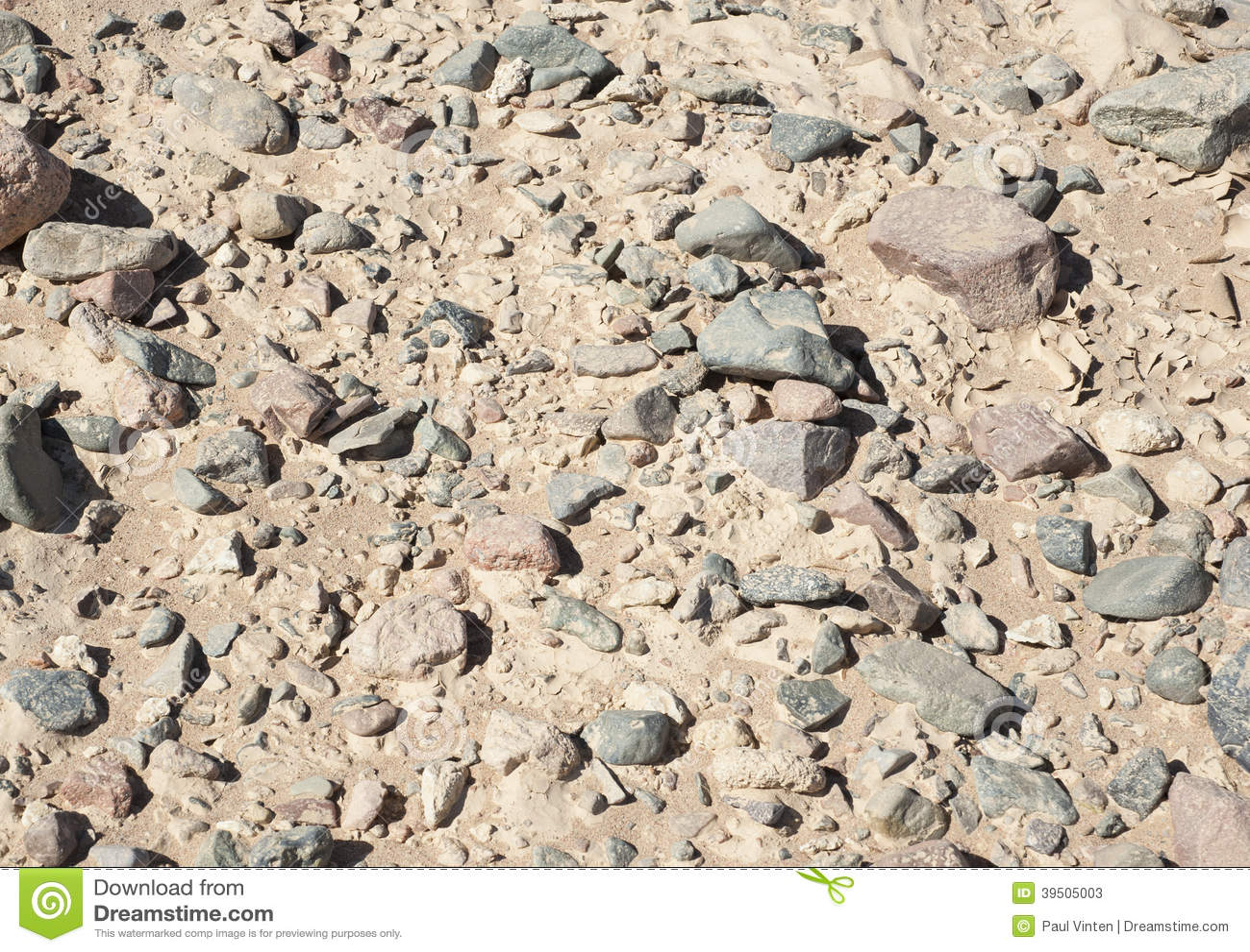 Stony desert ground background