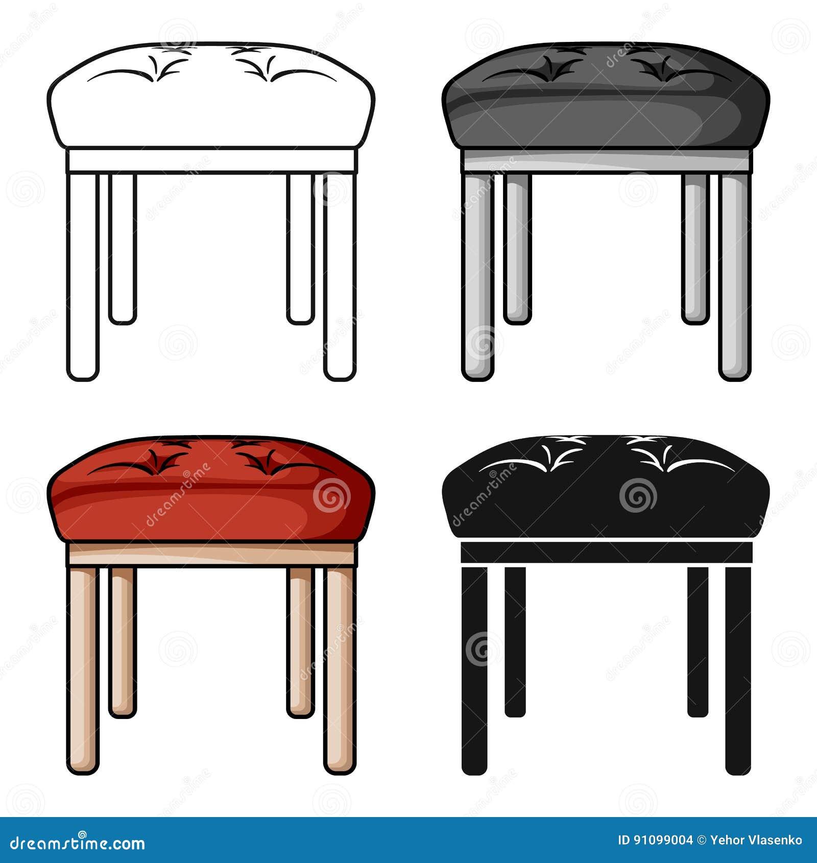 Stool Icon In Cartoon Style Isolated On White Background ... on chairs icon, bar shelf icon, furniture icon, fireplace icon, books icon, snowflake icon, bar soap icon, leather icon, table icon, console icon,