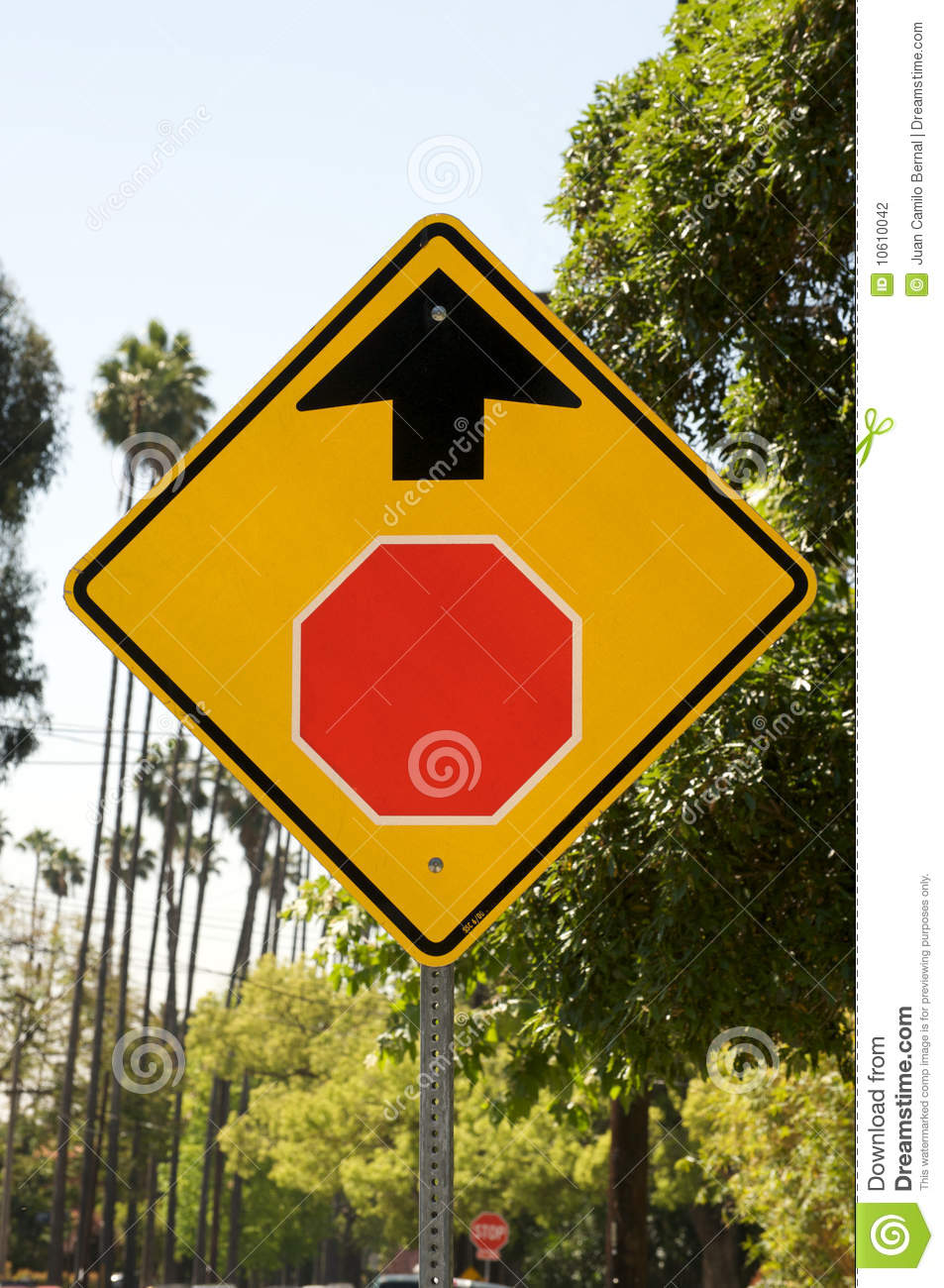 Stop Ahead sign stock photo. Image of stop, warning, sign ...
