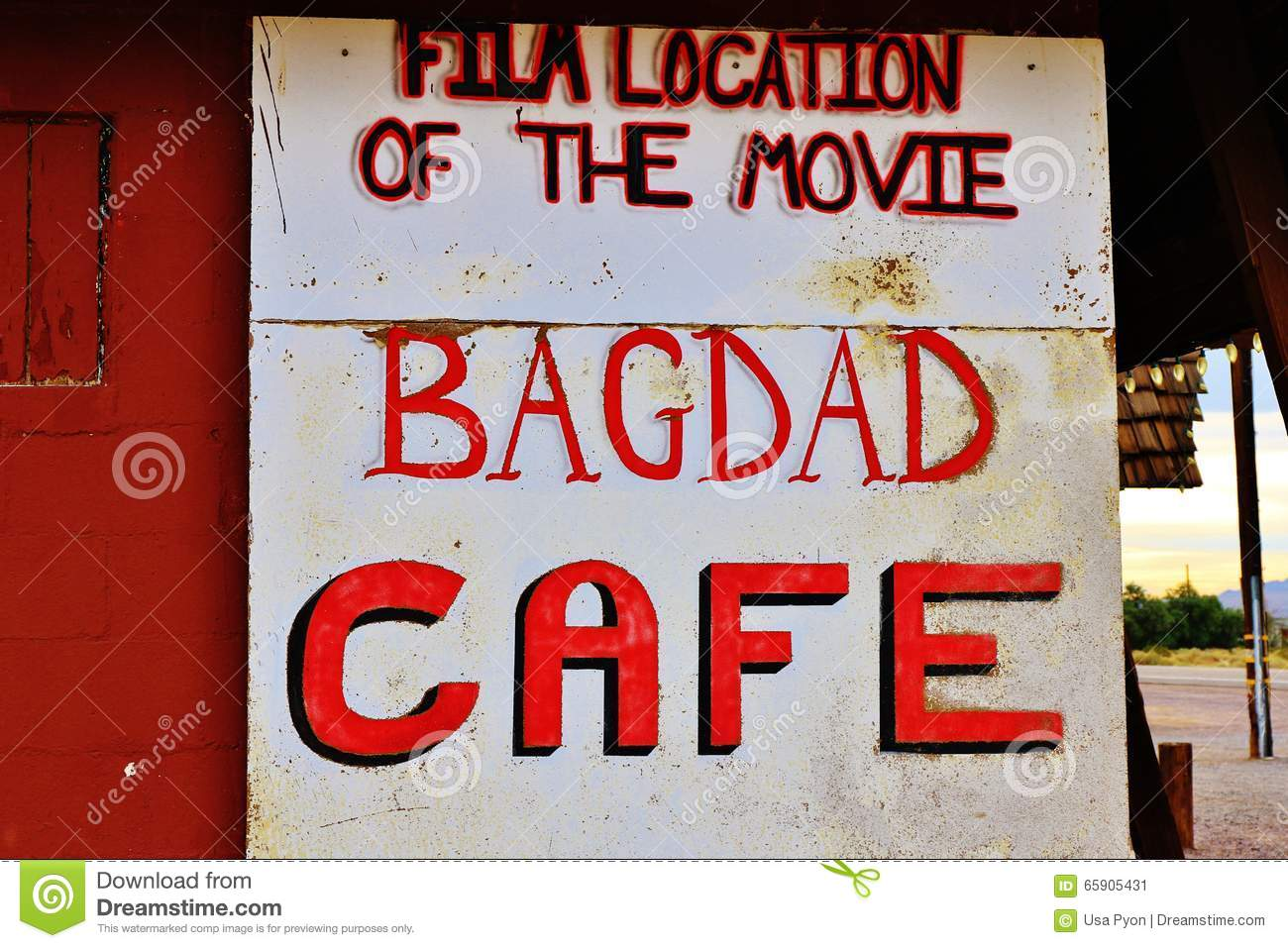 A stop at the Bagdad Cafe, on 66 historic road,California,America