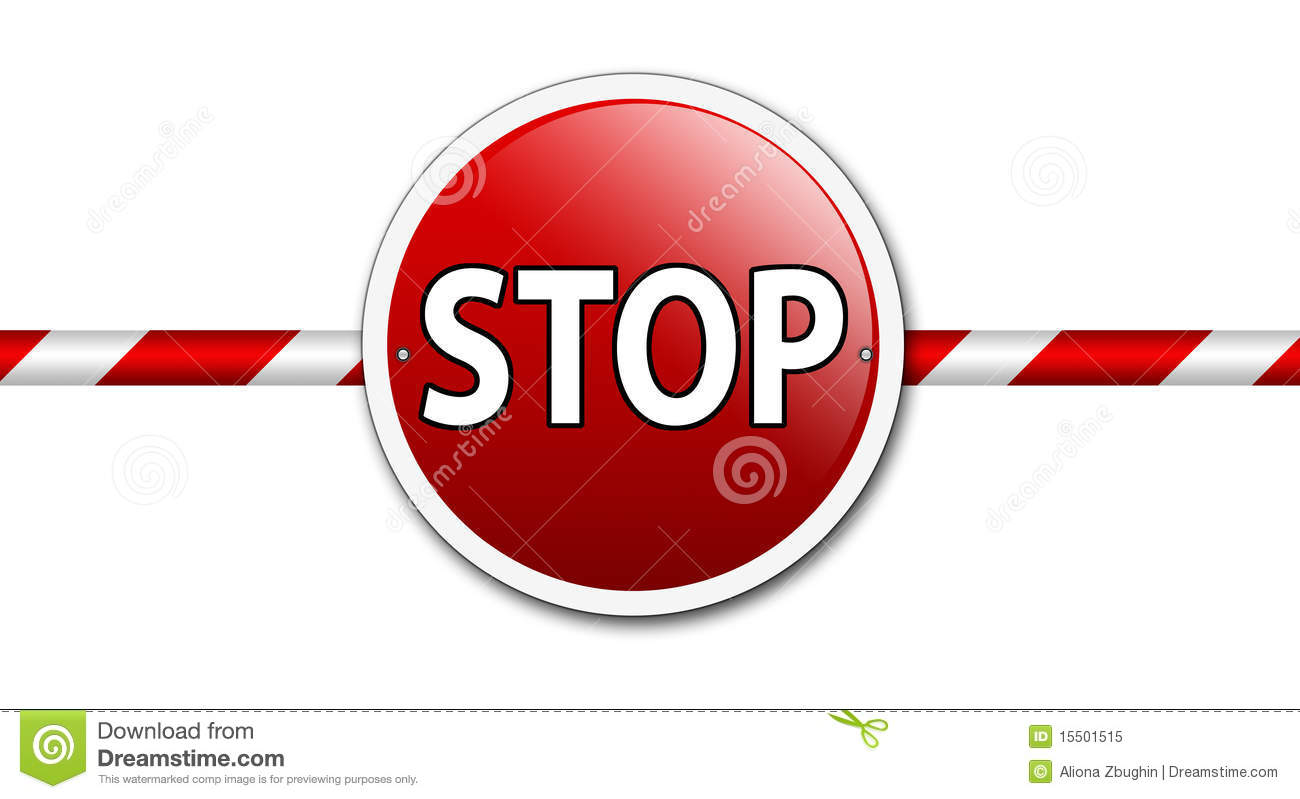 Stop Barrier Sign Royalty Free Stock Photo - Image: 15501515