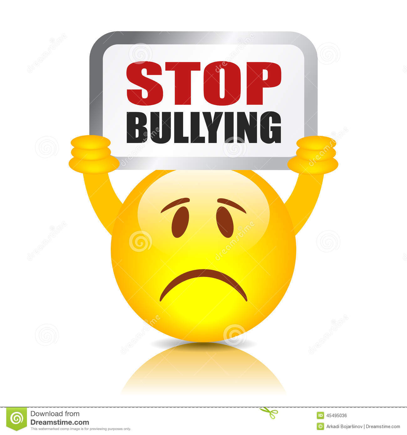 Stop Bullying Sign Stock Vector Illustration Of School