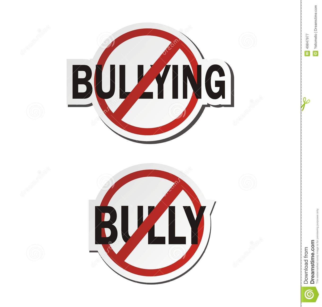 Stop bullying, stop bully - sticker sets