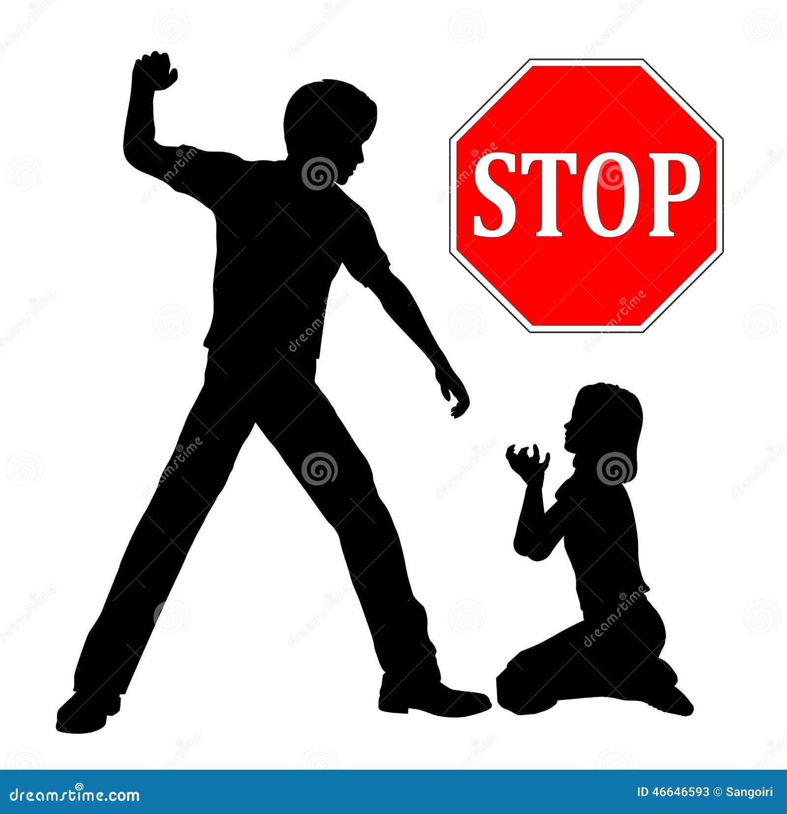 Stop Child Abuse Stock Illustration