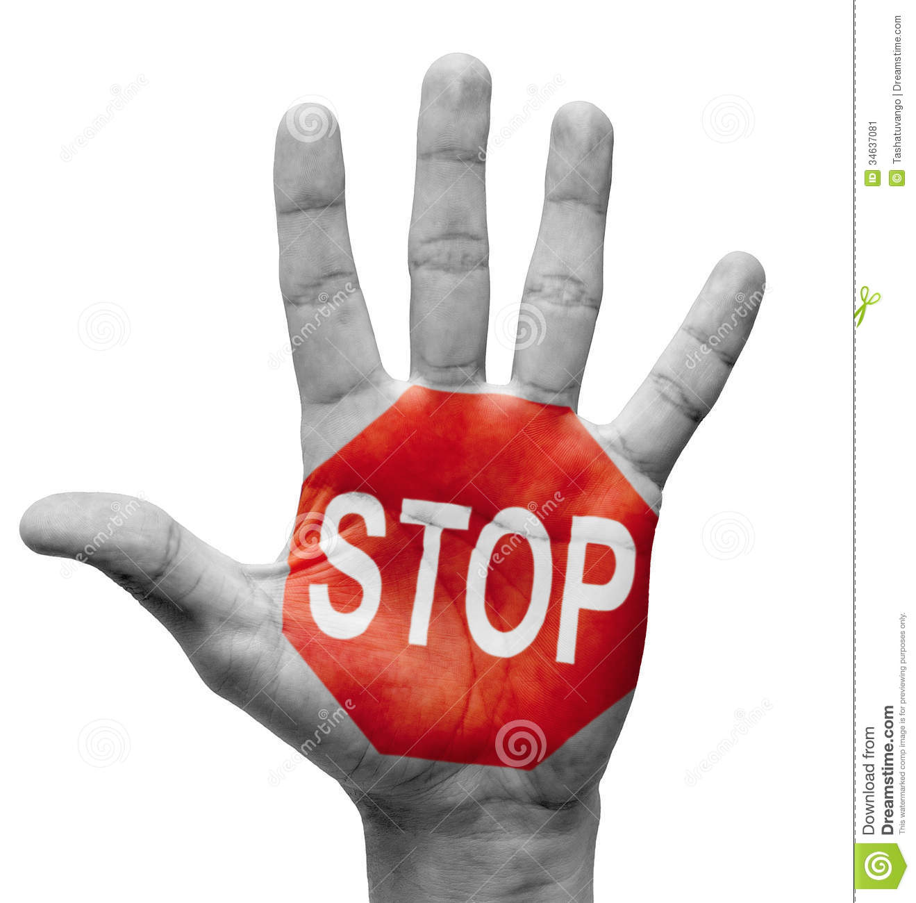 Stop Concept. Stock Image - Image: 34637081