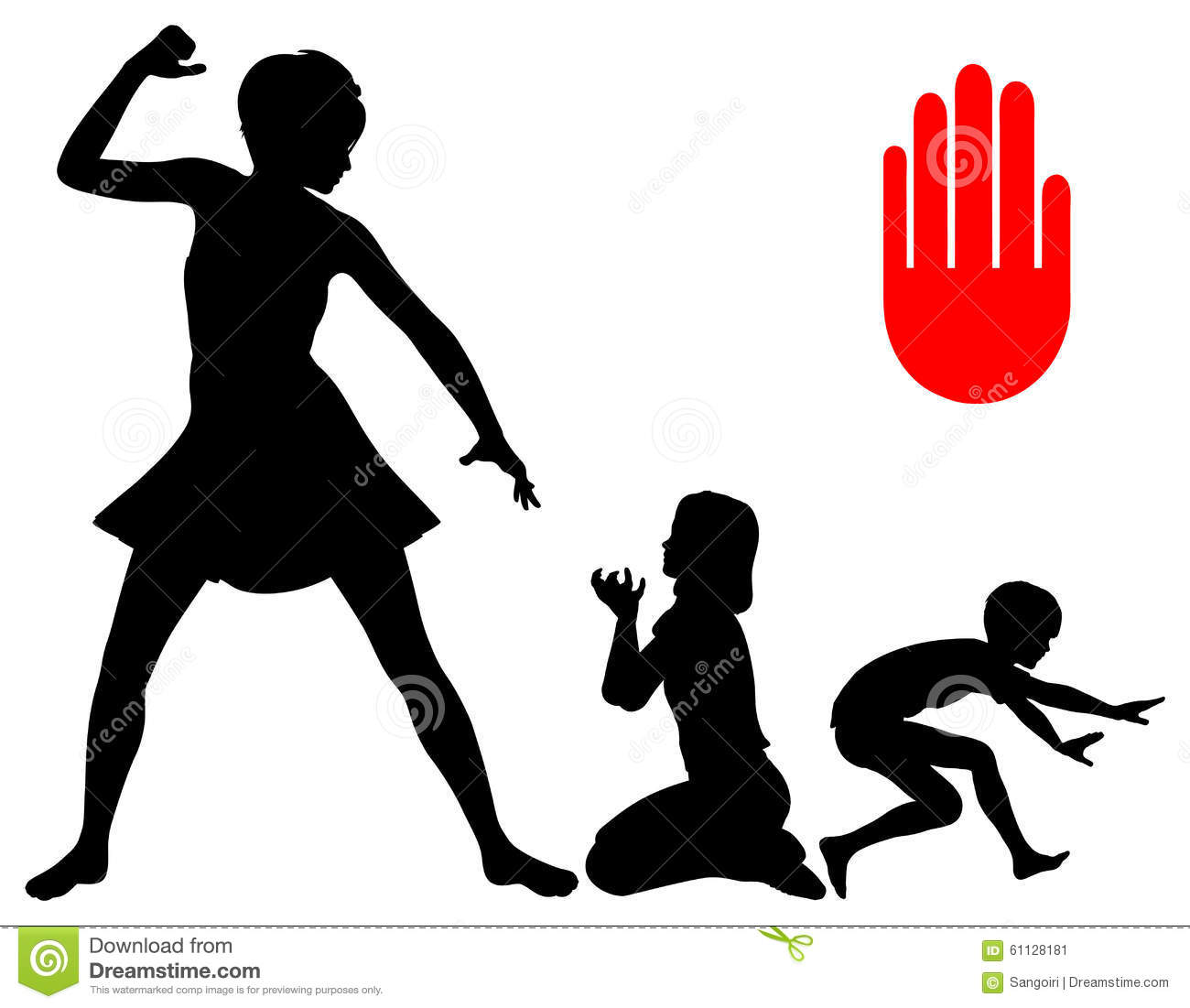 stop corporal punishment stock illustration