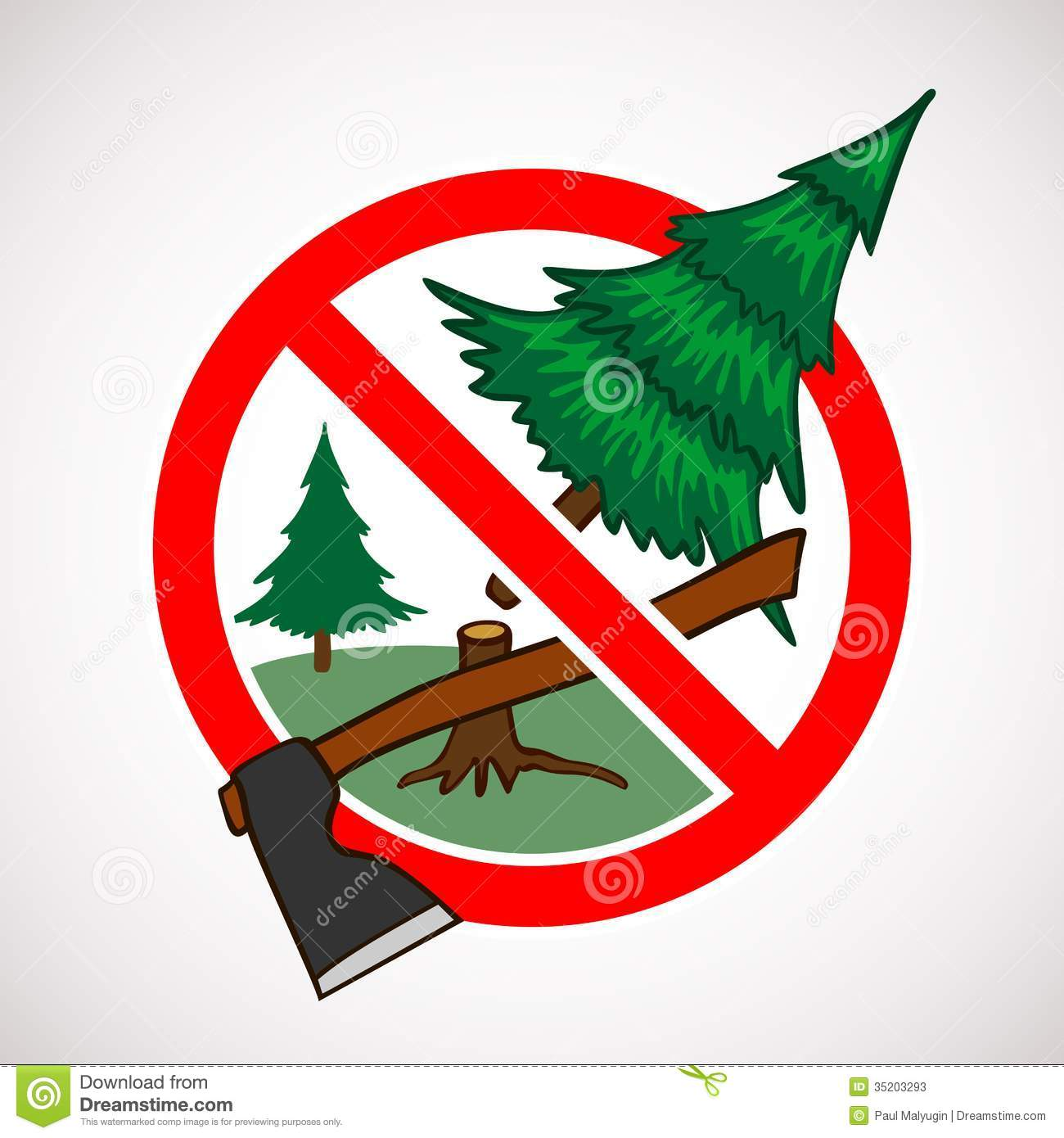Stop Cutting Down Live Trees For Christmas Sign Stock Photos  - Christmas Trees To Cut Down