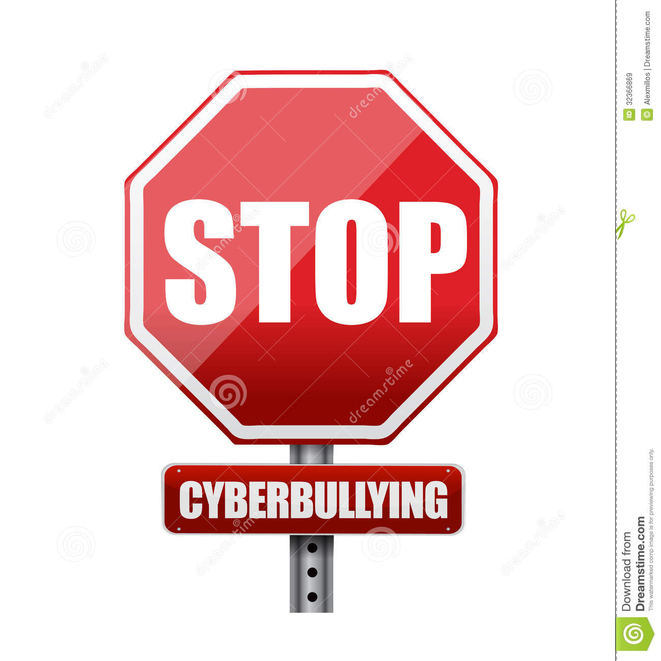 Triangle Road Signs >> Stop Cyberbullying Sign Illustration Design Stock ...